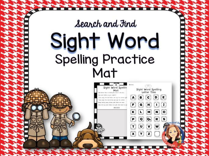 Sight Word Spelling Activity Mat