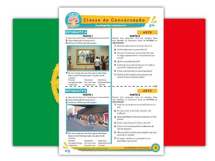 Arte - Portuguese Speaking Activity