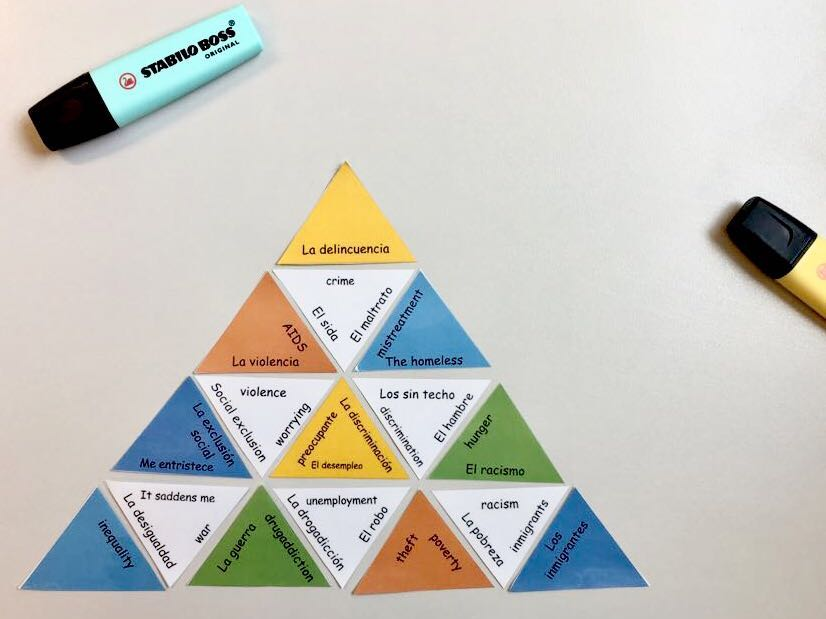 Tarsia vocabulary Spanish GCSE- global issues