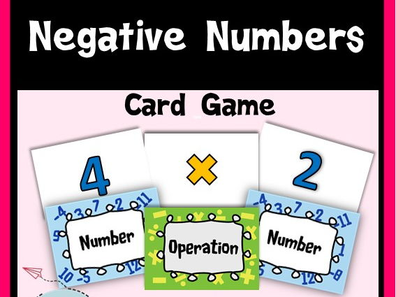 Negative Numbers Card Game