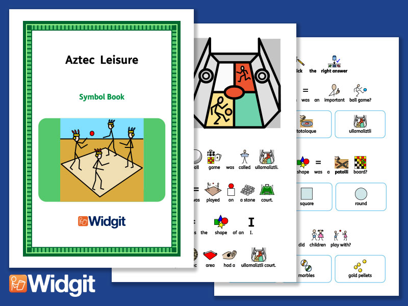 Aztec Leisure - History Book and Activities with Widgit Symbols
