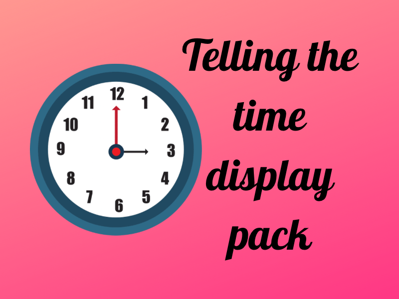 Time display pack