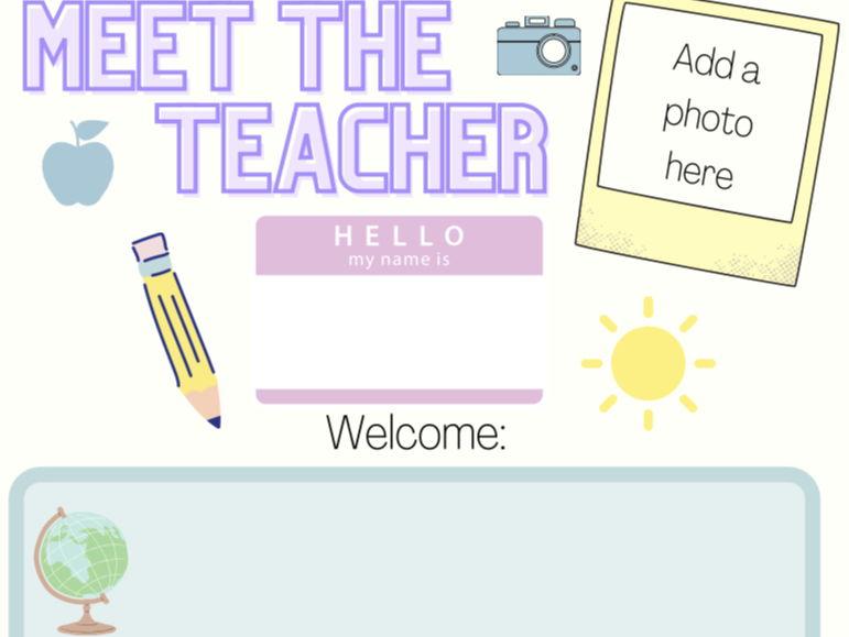 Pastel Meet the Teacher sheet