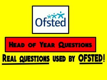 Ofsted Questions aimed at Heads of Department (all subjects)