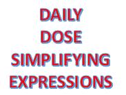 Maths  Daily Dose - Simplifying Algebraic Expressions