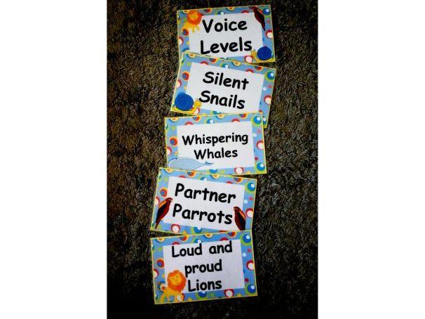 Voice Levels Display