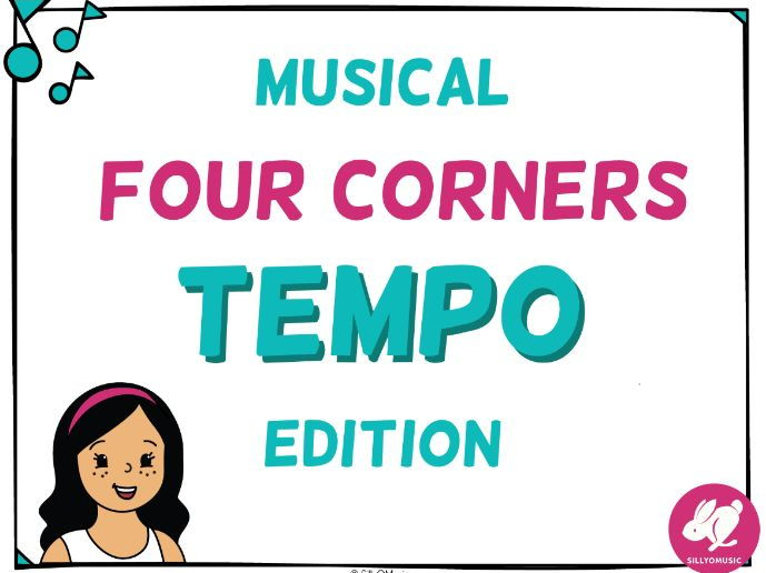 Musical 4 Corners, Tempo Game with Audio
