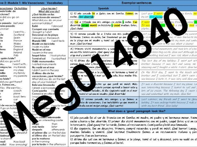 Viva 2: Module 1 Knowledge Organiser