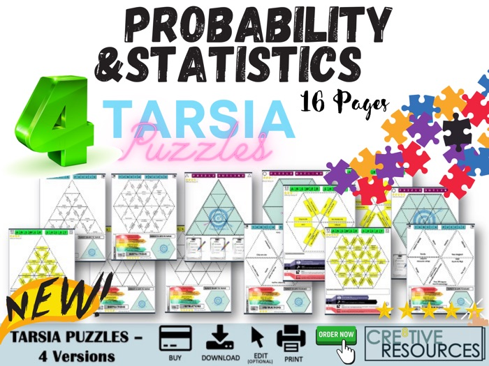 Probability and Statistics Maths Digital Puzzles