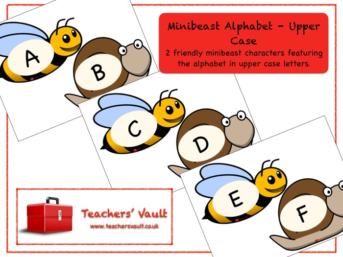 Minibeast Upper Case Alphabet Display