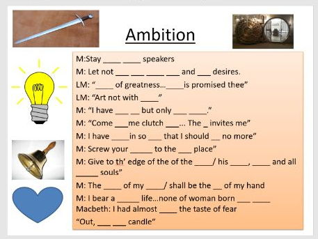 Macbeth quotation revision (Highly recommended by students - very successful)