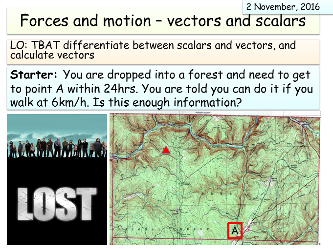 New AQA Synergy (Forces and motion unit) - Scalars and vectors