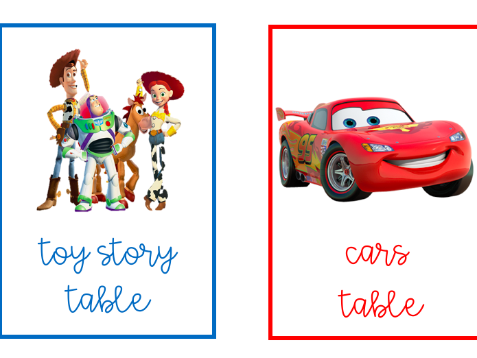 Tolsby Pixar Table Names