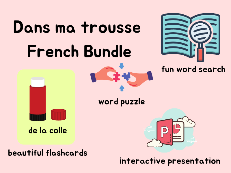 French Classroom Objects and Pencil Case