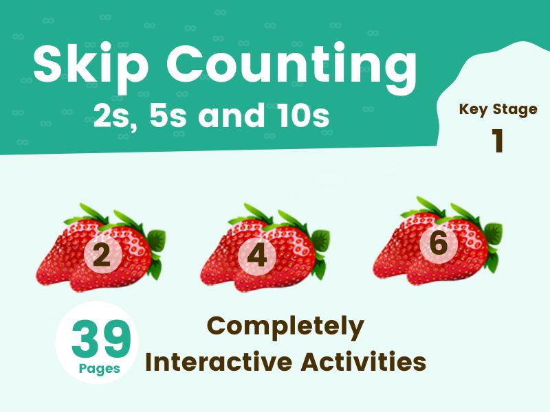 Skip Counting Digital Resource with Free Printable Worksheet