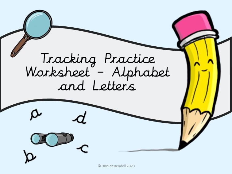 Alphabet Tracking Worksheet