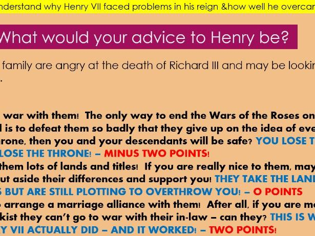 Henry VII and his problems