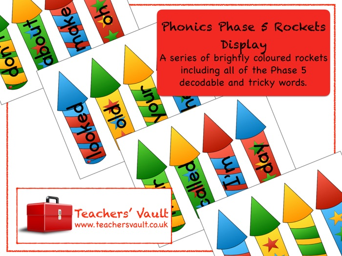 Phonics Phase 5 Rockets Display