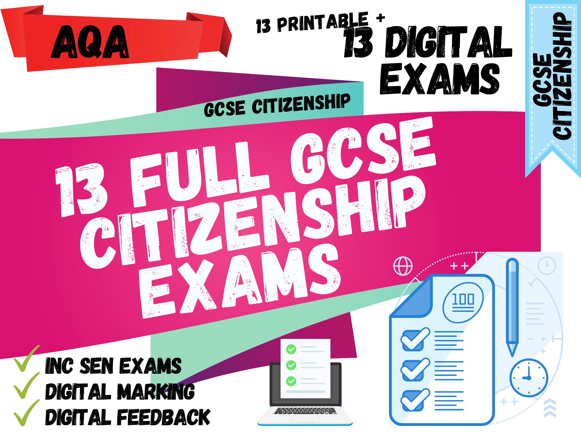 GCSE Citizenship AQA Exam Package