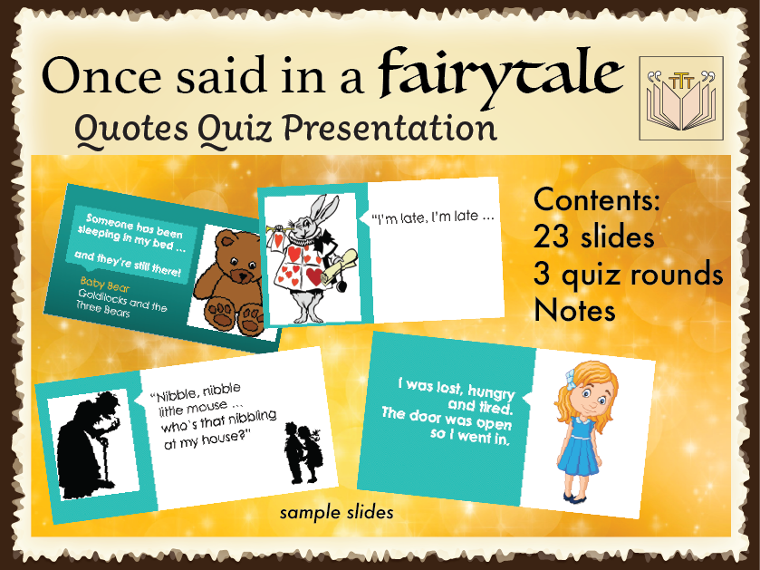 'Once said in a Fairytale' Quotes Quiz
