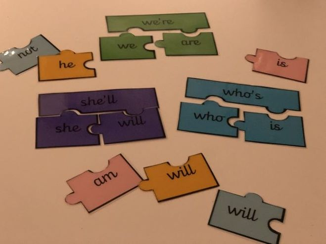 Contractions Jigsaws