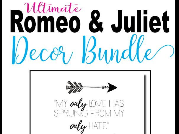 Romeo and Juliet Decoration and Posters