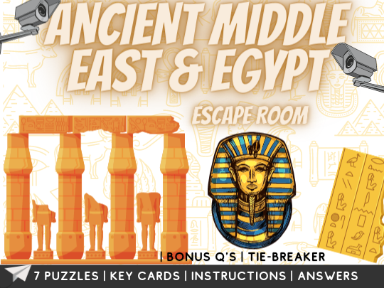 Middle East and Ancient Egypt Escape Room