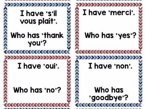 Follow Me Cards: The Basics in Spanish and French