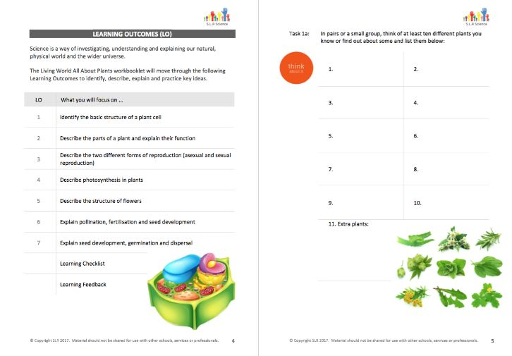 ALL ABOUT PLANTS workbooklet