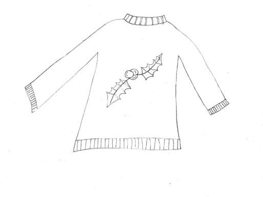 Christmas Sweater Colouring Page