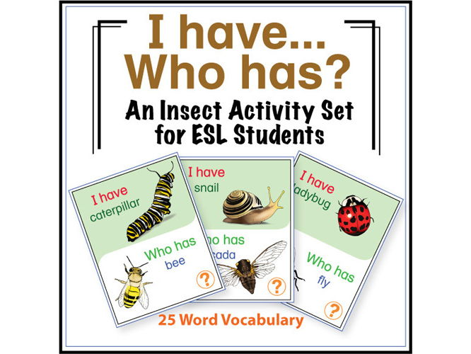 ESL Games - Insect I Have Who Has Activity