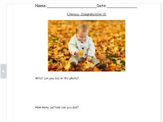 Comprehension for SEN and early years- 3rd in series.