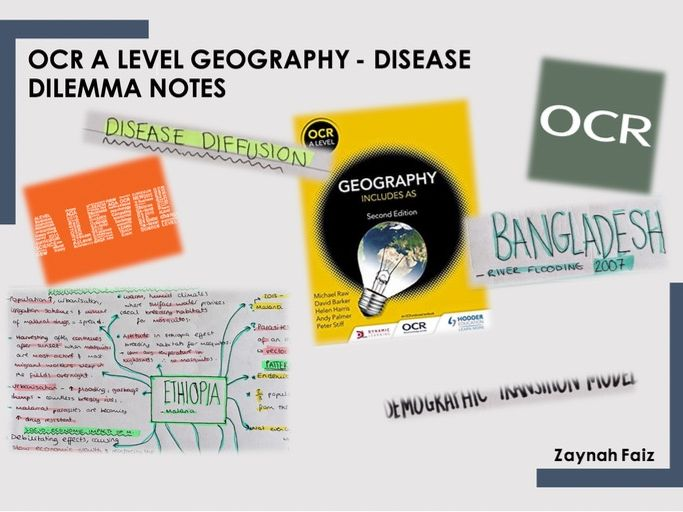 OCR Geography Revision notes on Disease dilemma