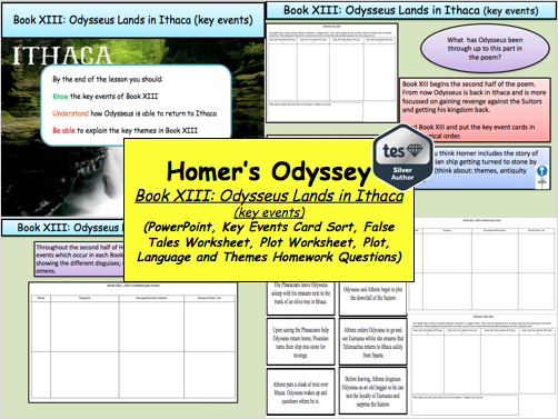 Homer's Odyssey – Book XIII: Odysseus Lands in Ithaca (key events)