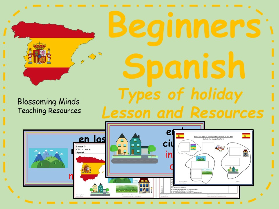 Spanish Lesson and Resources - KS2 - Types of Holiday