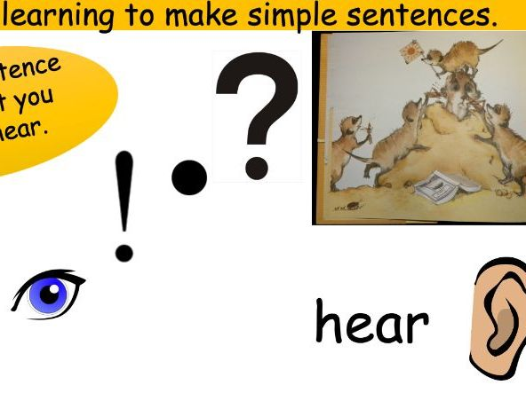 Writing Sentences PowerPoint for Lesson