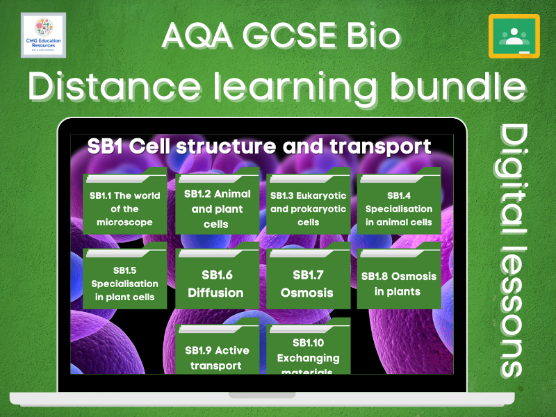B1 Cell structure and transport- Distance learning bundle (AQA GCSE Bio)