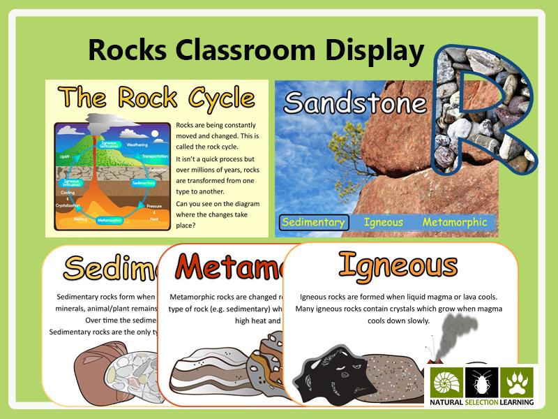 Rocks Classroom Display Materials
