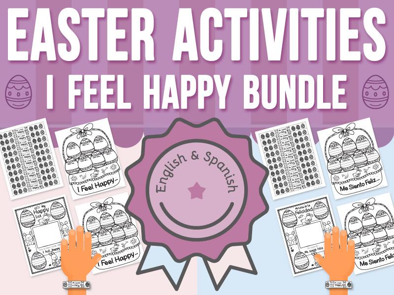 Easter Activities - I Feel Happy BUNDLE
