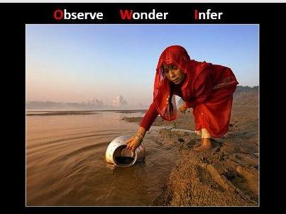 Observe Wonder Infer power point and worksheet