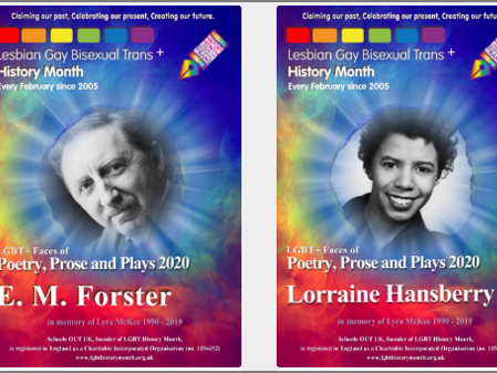 English LGBT History Month 2020 series of 4 lessons - poetry, prose, and plays