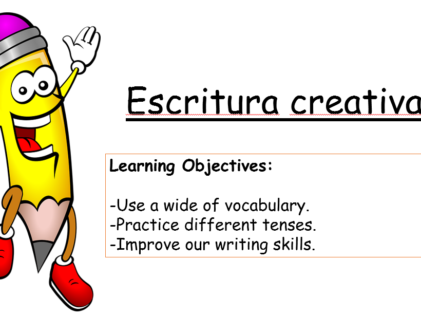 Creative writing - Spanish upper KS3- KS4