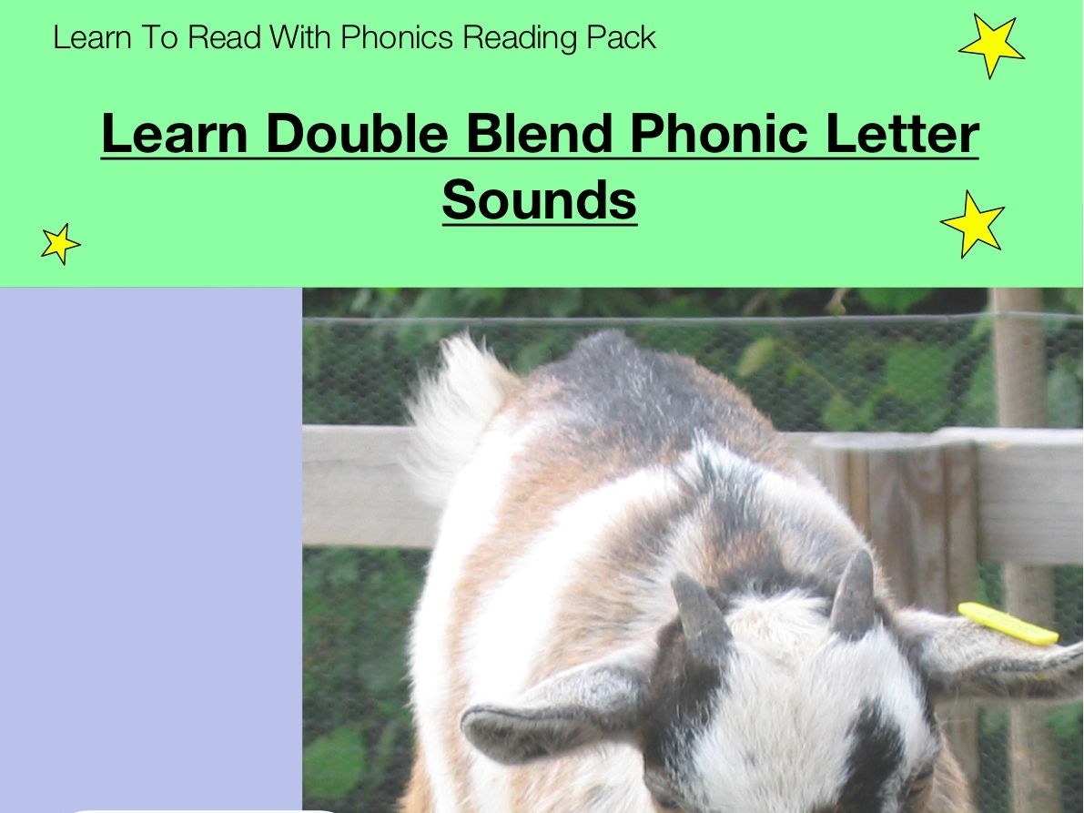 Learn Double Blend Phonic Letter Sounds (as in ch, sh, th, oo, ee) (Learn To Read With Phonics Pack)
