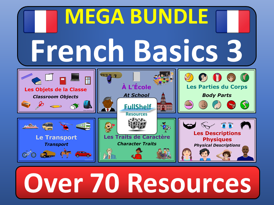French KS2 KS3 BUNDLE 3