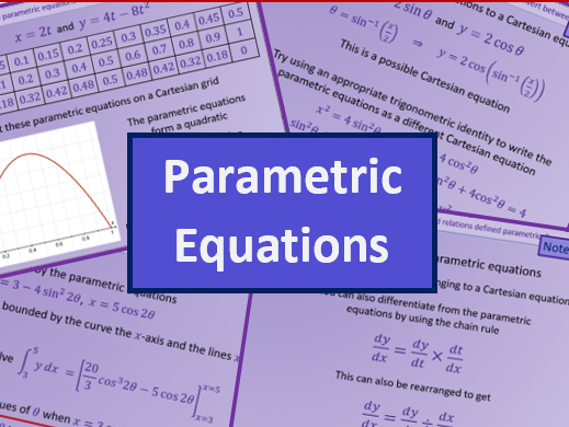 Parametric equations - A level A2 Mathematics