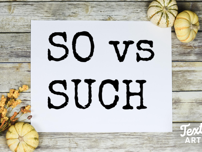 English Grammar: So vs Such: An Explanation