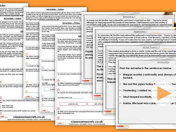 Grammar Year 5 Adverbials Summer Block 2 Step 3 Lesson Pack