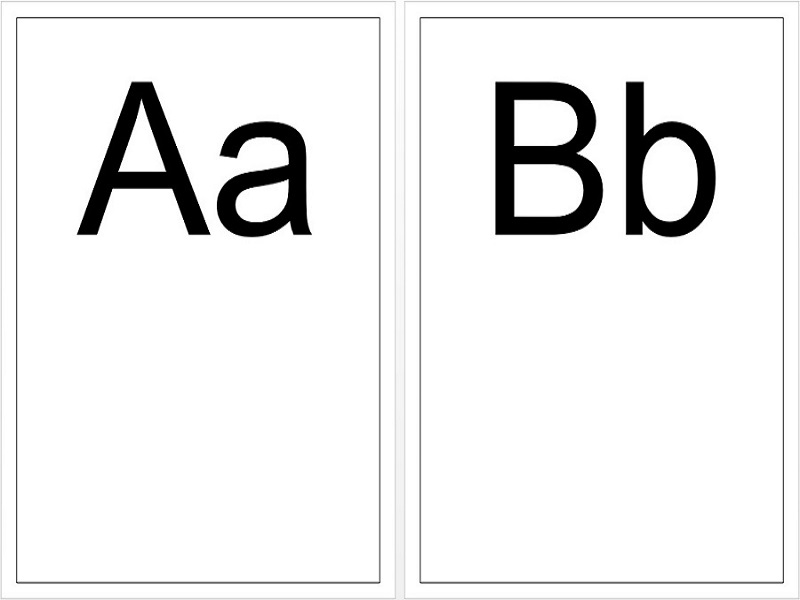 Upper & Lower Case Alphabet  A4 Display Cards