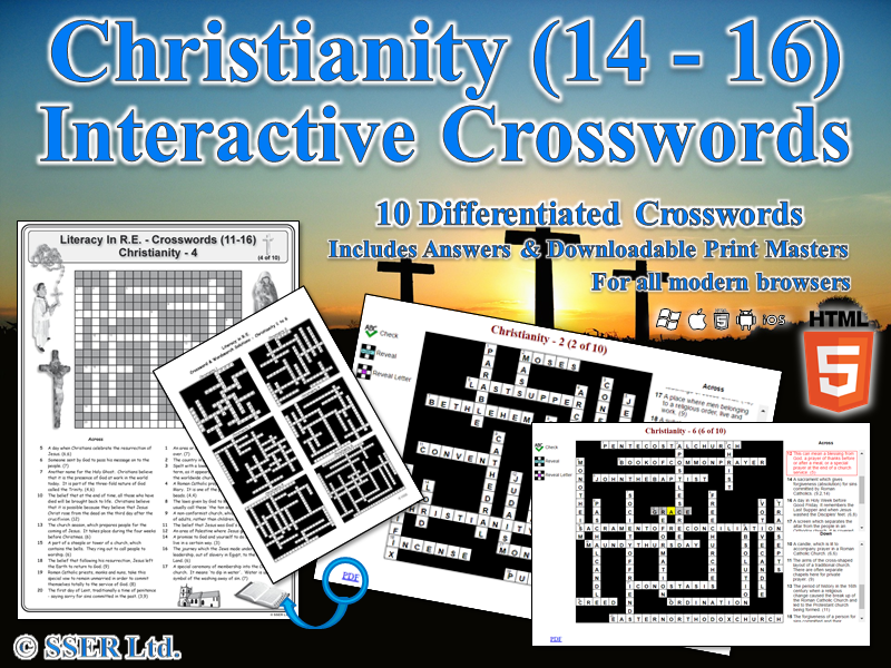 Literacy In Christianity – Interactive Crosswords (HTML5)