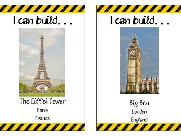 Construction area landmark cards
